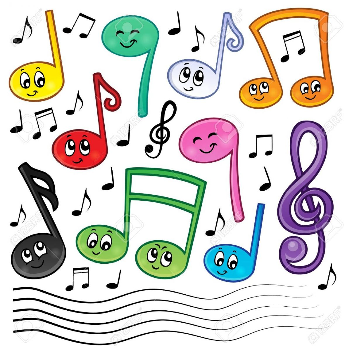 36328235-cartoon-music-notes-theme-image-1-eps10-vector-illustration-
